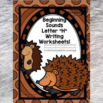 Beginning Sounds: Write Letter H (Handwriting Practice Worksheets)
