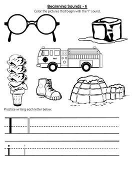 Beginning Sounds Letter I