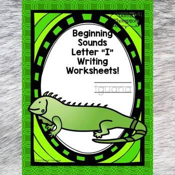 Beginning Sounds: Write Letter I (Handwriting Practice Worksheets)