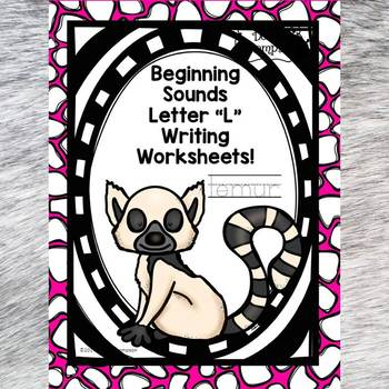 Beginning Sounds: Write Letter L (Handwriting Practice Worksheets)