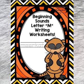 Beginning Sounds: Write Letter M (Handwriting Practice Worksheets)