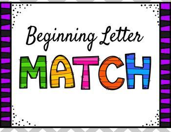 Beginning Sounds Letter Match ~ Digital/Interactive