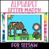 Beginning Sounds Letter Match Seesaw Activity