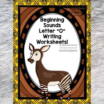 Beginning Sounds: Write Letter O (Handwriting Practice Worksheets)