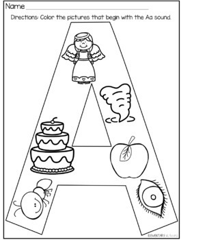 Beginning Sounds Identification Alphabet Letters By