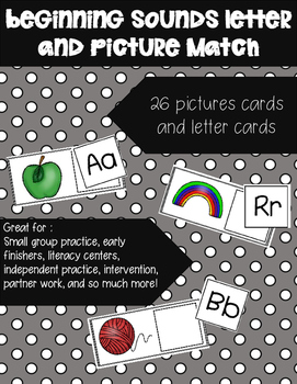 Beginning Sounds Letter/Picture Match!