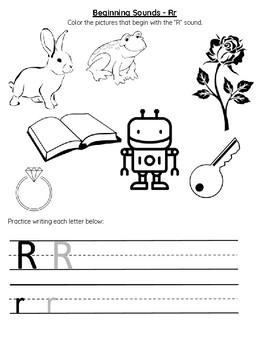Beginning Sounds Letter R