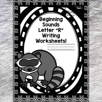 Beginning Sounds: Write Letter R (Handwriting Practice Worksheets)