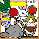 Beginning Sounds - Letter Rr | Scribble Clips Clipart