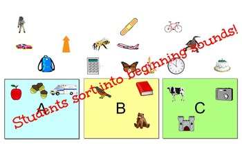 Beginning Sounds Letter Sort - ABC Freebie!