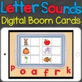 Beginning Sounds, Letter Sounds Match Digital Boom Cards Distance Learning