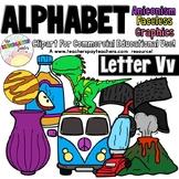 Beginning Sounds - Letter Vv | Scribble Clips Clipart