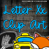 Beginning Sounds - Letter Xx | Scribble Clips Clipart