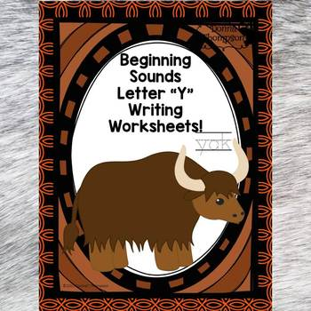 "Beginning Sounds ""Letter Y"" (Writing Worksheets)"