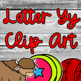 Beginning Sounds - Letter Yy | Scribble Clips Clipart