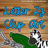 Beginning Sounds - Letter Zz | Scribble Clips Clipart