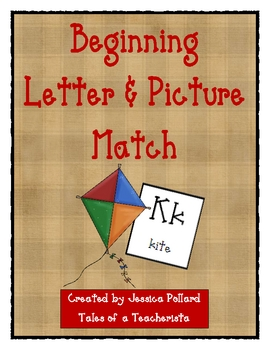 Beginning Sounds Letter and Picture Match