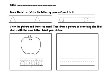 Beginning Sounds Letter and Picture Match Literacy Game and Activities