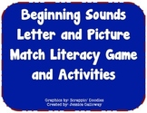 Beginning Sounds Letter and Picture Match Literacy Game an
