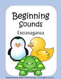 Beginning Sounds Letter and Pictures Cards w/ worksheet NO PREP, FULL COLOR