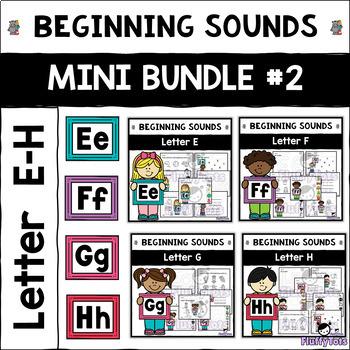 Beginning Sounds Worksheet : Mini Bundle #2 : Letter E-H