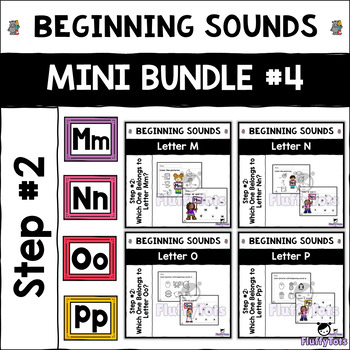 Beginning Sounds Letter of The Week : Mini Bundle #4 : Letter M-P