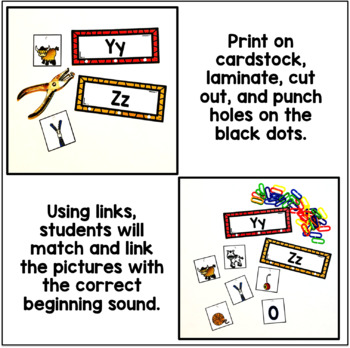 Beginning Sounds Link & Learn Cards
