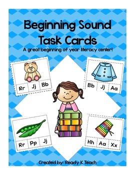 Beginning Sounds Literacy Cards