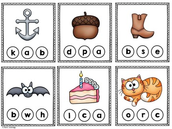 Beginning Sounds - Literacy Centre - Games - Activities - Printables