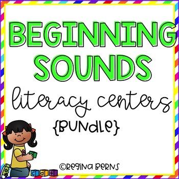 Beginning Sounds Literacy Centers {BUNDLE}