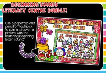 Beginning Sounds Literacy Centre BUNDLE #1