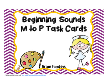 Beginning Sounds M to P Task Cards
