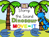 Beginning, Middle, and Ending Sounds MOVE IT! Stomp the Sounds - Dinosaur