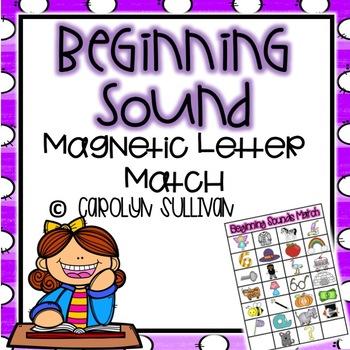 Beginning Sounds: Magnetic Letter Match