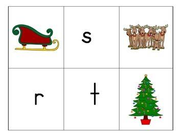 Beginning Sounds Match: Christmas