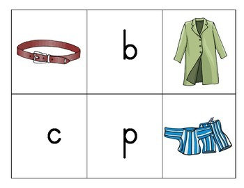Beginning Sounds Match: Clothing