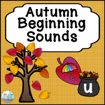 Beginning Sounds Match - Fall Trees