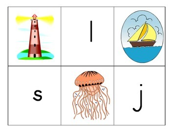 Beginning Sounds Match: Ocean