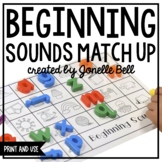 Beginning Sounds Match Up Print and Seesaw Links