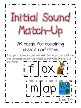 Beginning Sounds Match-Up - A Center for Onsets and Rimes