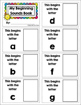Beginning Sounds Match Up, Letters of the Alphabet, Game and Interactive Book