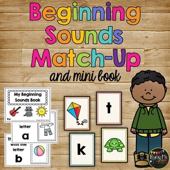 Beginning Sounds Match Up, Letters of the Alphabet, Game a