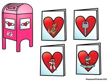 Beginning Sounds Match- Valentine's Day Cards!