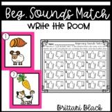 Beginning Sounds Match Write the Room