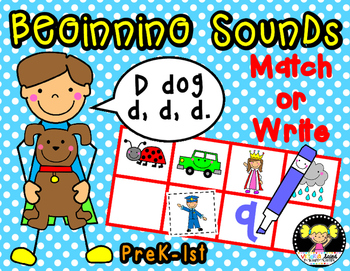 Beginning Sounds {Match or Write}