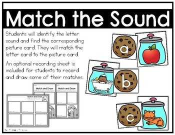 Beginning Sounds Matching Activities