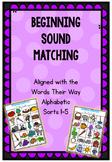 Beginning Sounds Matching Boards