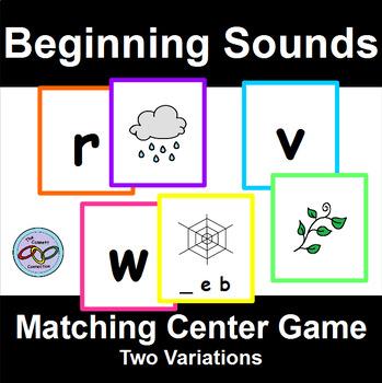 Beginning Sounds Matching Center Game