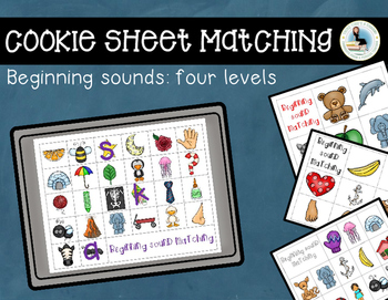 Beginning Sounds Matching Cookie Sheet and Magnet Letters Activity