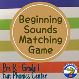 Beginning Sounds Matching Game Phonics Literacy Center